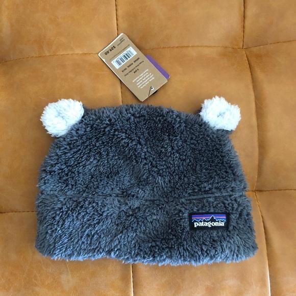 0b11ae2bc Patagonia furry friends hat gray 3-6m NWT NWT